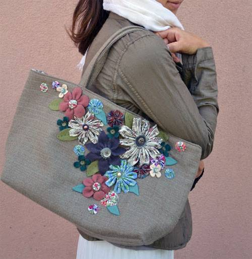 She Carries Flowers Bag - Free Sewing Pattern - Love to Sew