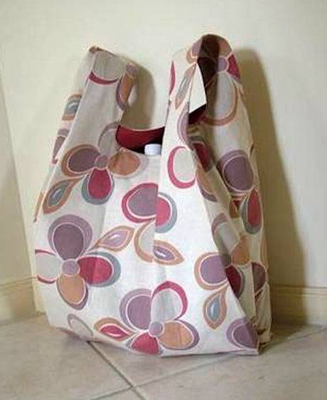 Free Sewing Pattern and Tutorial - Singlet Style Shopping Bag