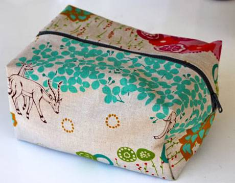 Boxy Cosmetic Bag - Free Sewing Tutorial by Skip to My Lou