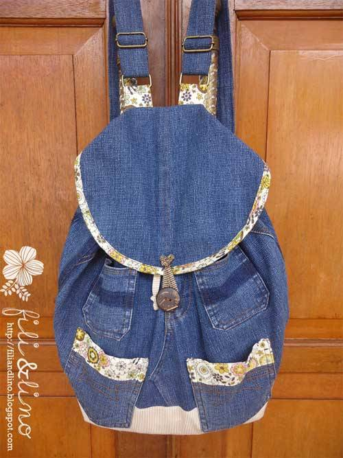 Denim Backpack Free Sewing Tutorial Love To Sew Enchanting Free Backpack Pattern