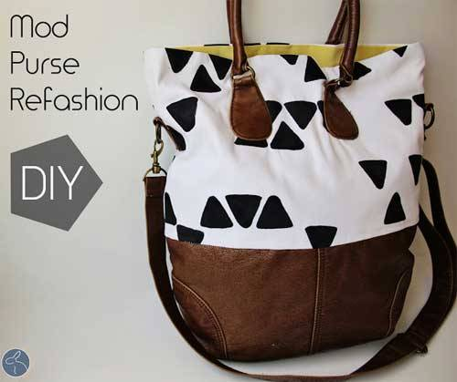 Free Bag Pattern and Tutorial - Mod Purse Refashion
