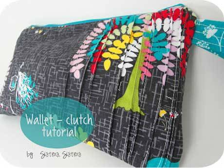 Pin Tuck Pleats Clutch - Free Sewing Tutorial - Love to Sew