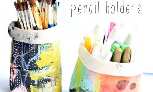 Canvas Pencil Holders – Free Sewing Tutorial