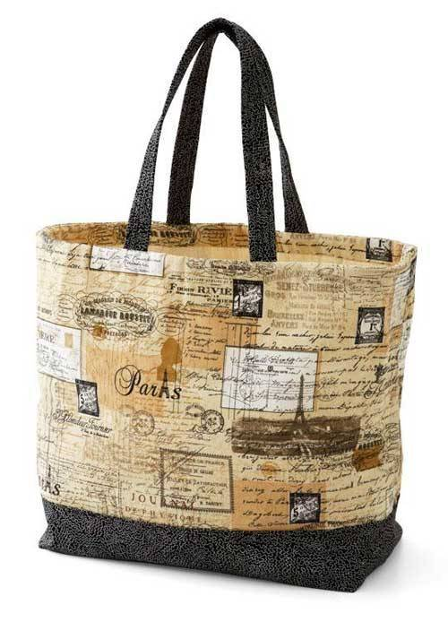 Free Quilting Patterns For Totes : Canvas Tote Bag - Free Sewing Tutorial