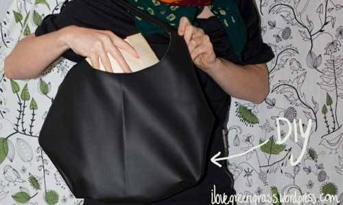 Free Bag Pattern and Tutorial - DIY Faux Leather Bag