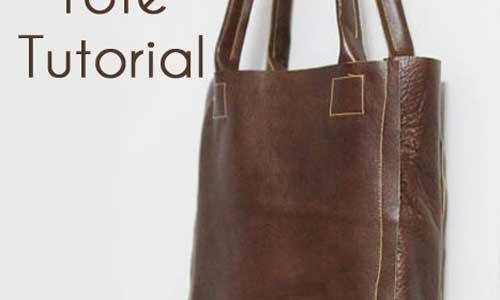 Free Tote Bag Pattern and Tutorial - Leather Tote