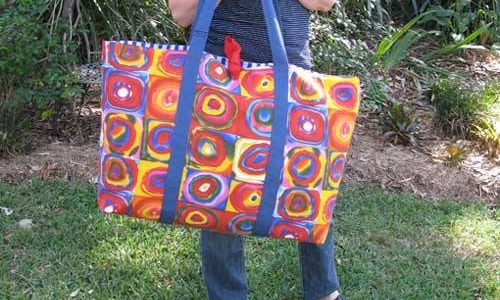 No Frills Extra Large Tote – Free Sewing Tutorial