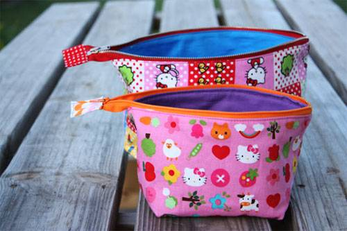 Open Wide Zippered Pouch Free Sewing Tutorial Love To Sew