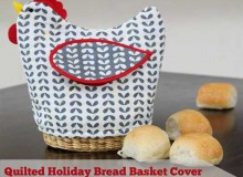 Quilted Bread Basket Cover – Free Sewing Tutorial