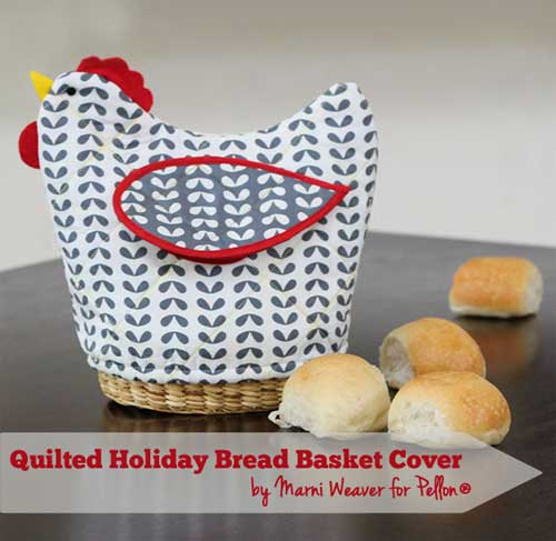 Quilted Bread Basket Cover - Free Sewing Tutorial