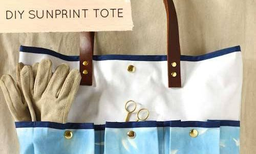 Free Tote Bag Pattern and Tutorial - Sunprint Tote