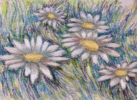 How to turn your painting or drawing into textile art