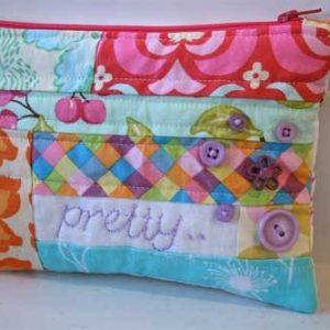 Easy Peasy Zippered Pouch – Free Sewing Tutorial