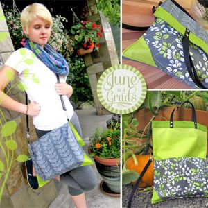 Fold Over Book Bag/Tote – Free Sewing Tutorial