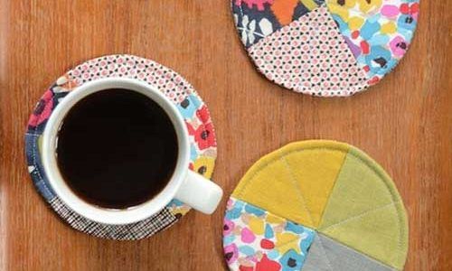 Quilted Circle Coasters – Free Sewing Tutorial