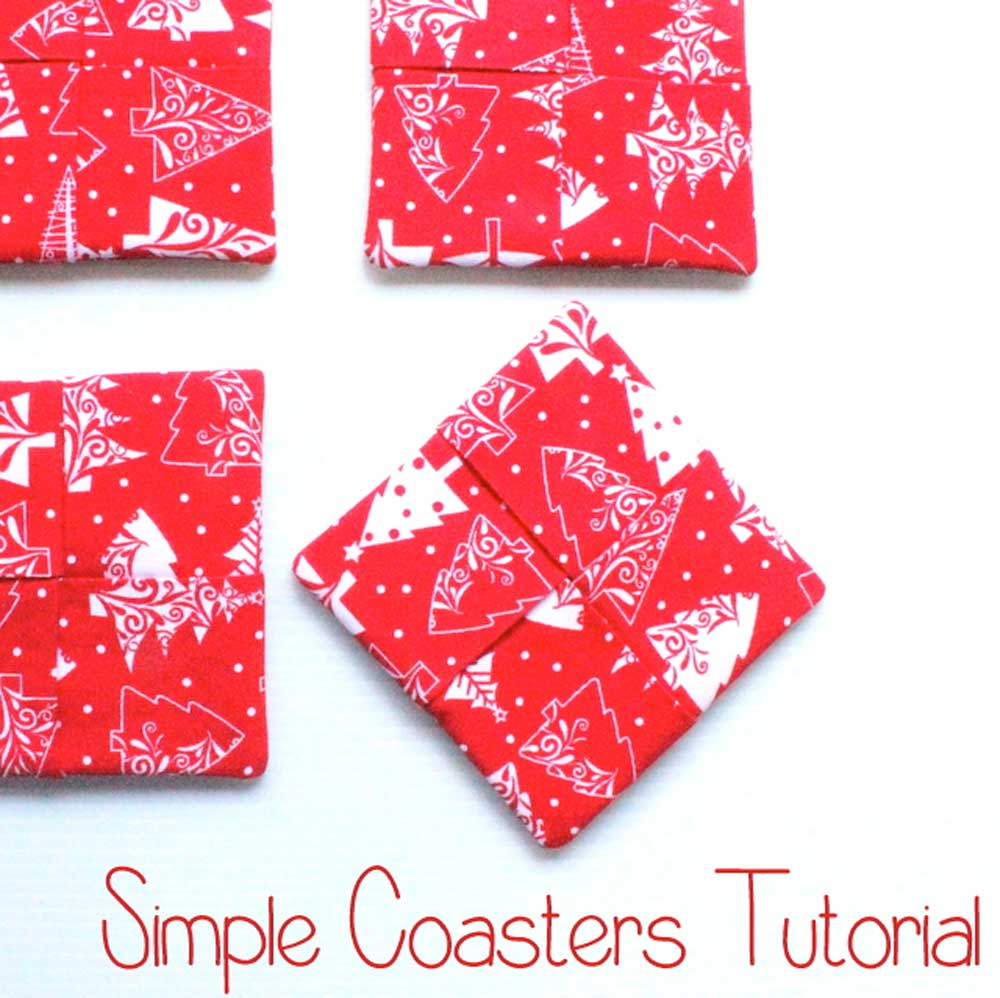 Simple Coasters - Free Sewing Tutorial