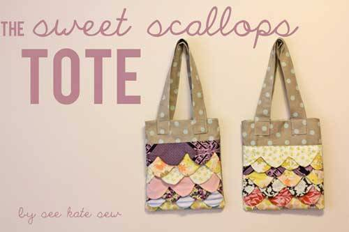 Sweet Scallops Tote – Free Sewing Pattern