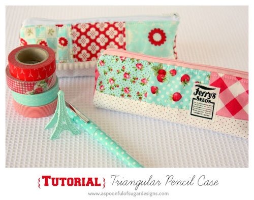 Triangular Pencil Case – Free Sewing Tutorial