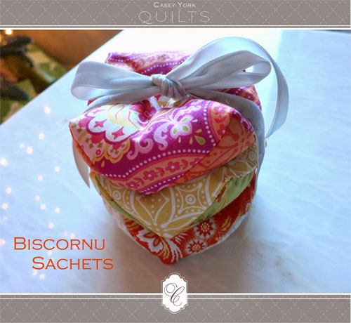 Free Sewing Pattern and Tutorial - Biscornu Sachets