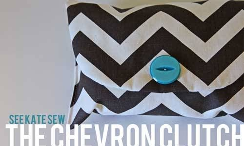 Free Bag Pattern and Tutorial - The Chevron Clutch