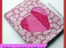 Fabric Covered Notebook with Applique – Free Sewing Tutorial