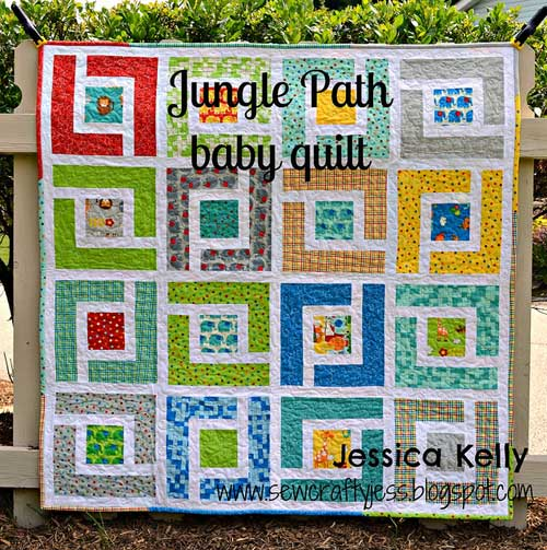 Jungle Path Baby Quilt Free Quilt Pattern Love to Sew Cool Quilt Patterns Free