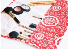 Makeup Brush Roll – Free Sewing Tutorial