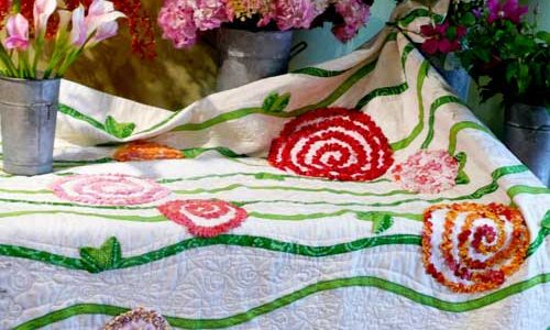 Radically  Ruched  Roses – Free Quilt Pattern