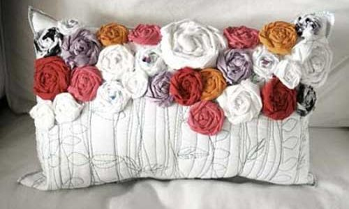 Recycled Roses Pillow – Free Sewing Tutorial
