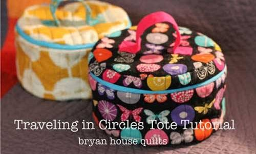 Free Tote Bag Pattern - Traveling in Circles Tote