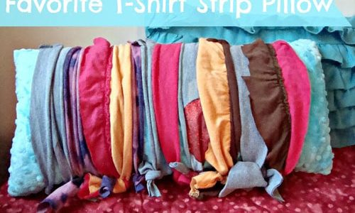 T-Shirt Strip Pillow Cover – Free Sewing Tutorial
