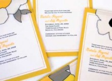 Video Tutorial: How to make sewn fabric flower and loose leaf wedding invitations