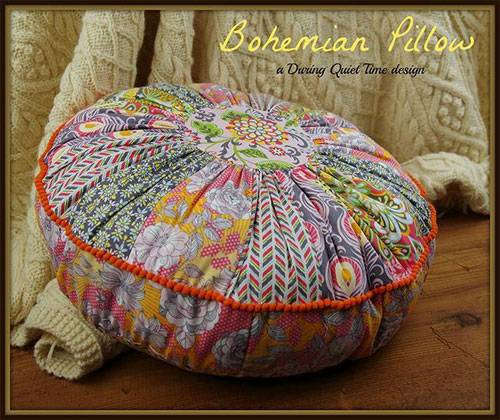 Bohemian Circular Pillow and Pincushion Sewing Pattern