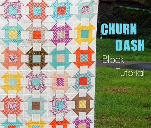 Churn Dash Block - Free Quilting Tutorial