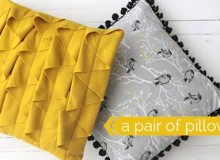 Throw Pillows with Ruffle and Pom Pom Trim Sewing Tutorial
