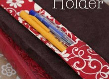 Fabric Journal Pen Holder