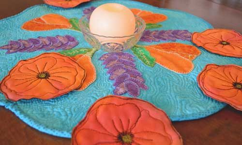 Quilted Poppy Coasters – Free Sewing Tutorial