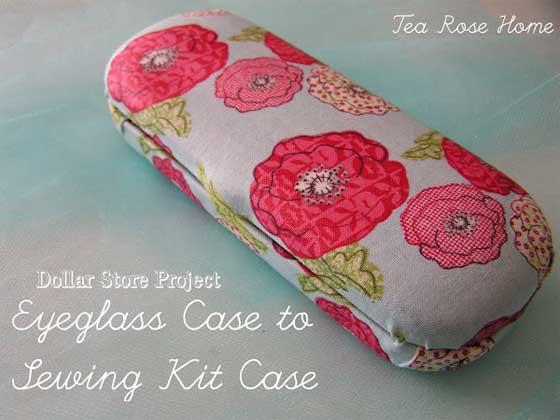 Free Sewing Tutorial - Eyeglass Case to Sewing Kit Case
