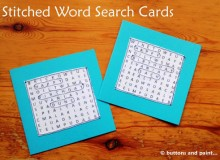 Stitched Word Search Cards – Free Sewing Tutorial