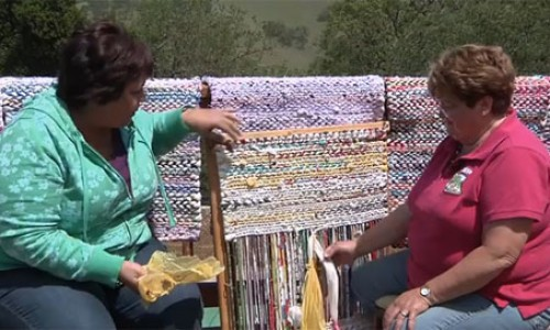 Video Tutorial:  Rag Rug Weaving with Fabric Strips