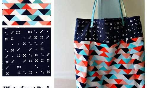 Waterfront Park Pleated Tote Bag – Free Bag Pattern