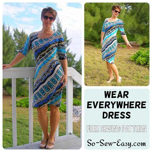 Wear Everywhere Easy Knit Dress - Free Sewing Pattern - Love to Sew