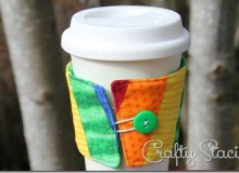 Rainbow Coffee Sleeve Tutorial