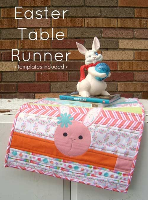 Easter Quilt as You Go Table Runner – Free Quilting Tutorial