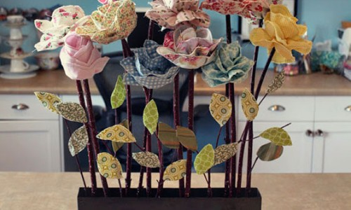 Long Stemmed Fabric Flowers – Free Sewing Tutorial