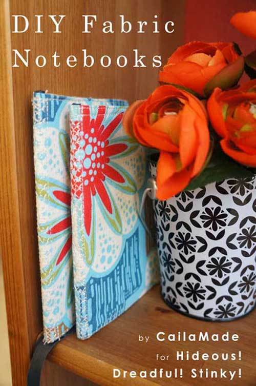 DIY Fabric Notebook - Free Sewing Tutorial