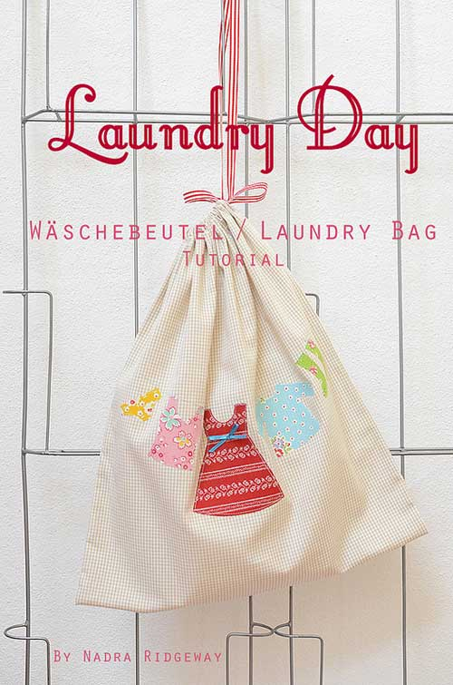 This cute laundry bag is a great beginner sewing project and is made using a simple unlined drawstring bag.