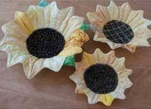 Sunflower Nesting Bowl Sewing Pattern