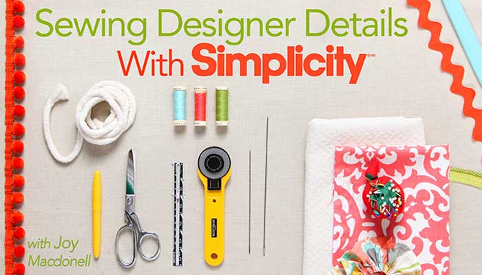 Sewing Designer Details With Simplicity
