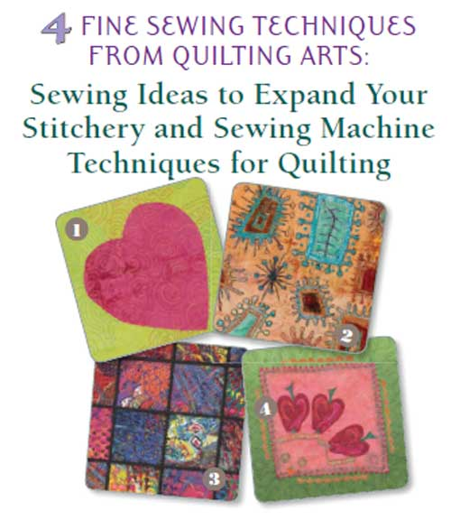 Discover creative stitching techniques that are guaranteed to improve your art quilts.